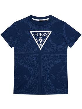 Guess Guess T-Shirt L1GI02 K8HM0 Granatowy Regular Fit