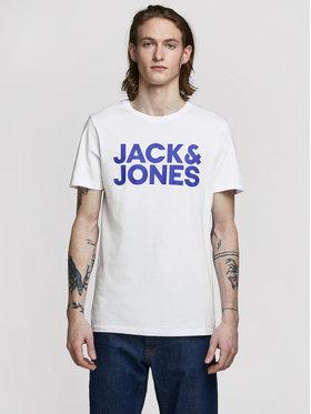 Jack&Jones Jack&Jones T-Shirt Corp Logo 12151955 Bílá Slim Fit