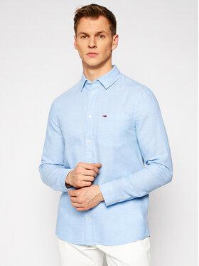Tommy Jeans Tommy Jeans Marškiniai Tjm Blend DM0DM10144 Mėlyna Regular Fit