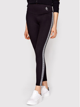 MICHAEL Michael Kors MICHAEL Michael Kors Leggings Stripe Tape MS1300L1BA Schwarz Slim Fit