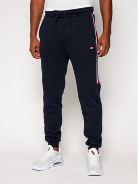 Tommy Sport Tommy Sport Spodnie dresowe Cuffed Fleece S20S200518 Granatowy Regular Fit