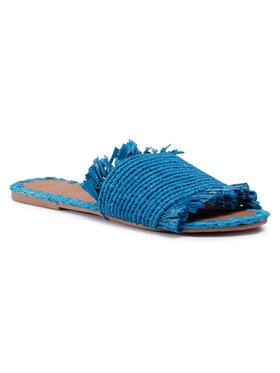 Manebi Manebi Παντόφλες Leather Sandals S 1.9 Y0 Μπλε