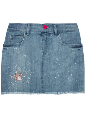 Guess Guess Spódnica J1GD14 D4CA0 Niebieski Regular Fit