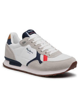 Pepe Jeans Pepe Jeans Sneakersy Britt Man Basic PMS30721 Bílá