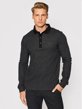 Pierre Cardin Pierre Cardin Тениска с яка и копчета 53624/000/12317 Черен Regular Fit
