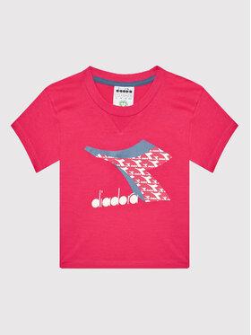 Diadora Diadora T-Shirt Cubic 102.177801 Różowy Regular Fit