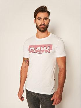 G-Star Raw G-Star Raw T-Shirt Graphic D17689-336-110 Bílá Slim Fit