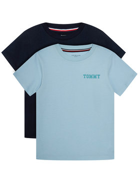 Tommy Hilfiger Tommy Hilfiger Komplet 2 t-shirtów Cn Tee Ss Logo UB0UB00331 Kolorowy Regular Fit
