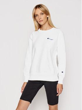 Champion Champion Sweatshirt Small Script Logo Reverse Weave 113151 Blanc Regular Fit
