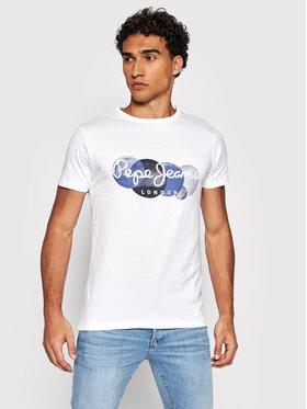 Pepe Jeans Pepe Jeans T-shirt Sacha PM507860 Bianco Regular Fit