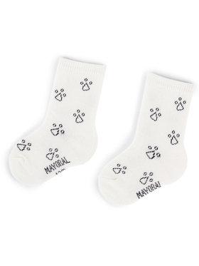 Mayoral Mayoral Sada 3 párů dětských vysokých ponožek 10633 Bílá