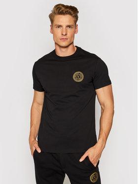 Versace Jeans Couture Versace Jeans Couture T-shirt Vemblem S Embro 71GAHT10 Noir Regular Fit