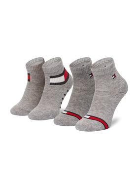 Tommy Hilfiger Tommy Hilfiger Σετ ψηλές κάλτσες παιδικές 2 τεμαχίων 100002319 Γκρι