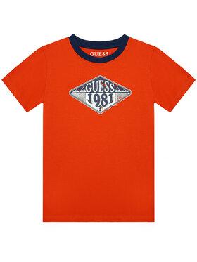 Guess Guess T-Shirt L1GI09 K8HM0 Czerwony Regular Fit