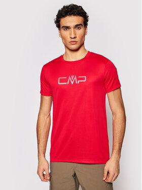 CMP CMP Koszulka techniczna 39T7117P Czerwony Regular Fit