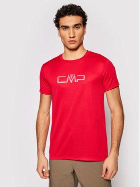 CMP CMP Tricou tehnic 39T7117P Roșu Regular Fit