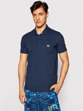 Emporio Armani Emporio Armani Тениска с яка и копчета 211804 1P461 06935 Тъмносин Regular Fit