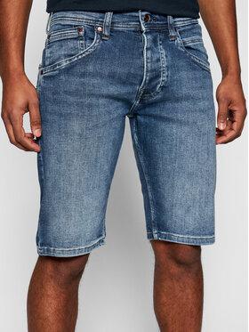 Pepe Jeans Pepe Jeans Džinsiniai šortai Track PM800487 Tamsiai mėlyna Regular Fit