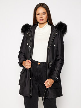 Guess Guess Parka Trudy W0BL63 W94M0 Fekete Regular Fit