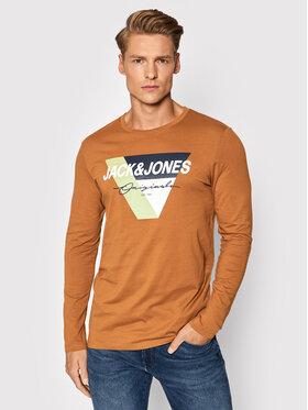 Jack&Jones Jack&Jones Тениска с дълъг ръкав Mason 12196647 Кафяв Regular Fit