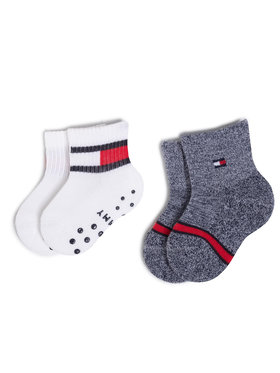 Tommy Hilfiger Tommy Hilfiger Σετ ψηλές κάλτσες παιδικές 2 τεμαχίων 100000799 Λευκό