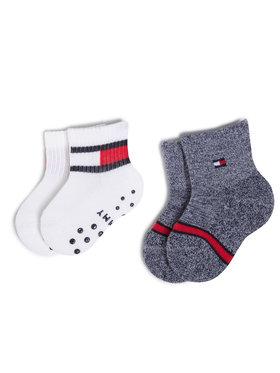Tommy Hilfiger Tommy Hilfiger Súprava 2 párov vysokých detských ponožiek 100000799 Biela