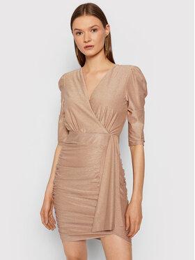Rinascimento Rinascimento Koktejlové šaty CFC0105082003 Ružová Slim Fit