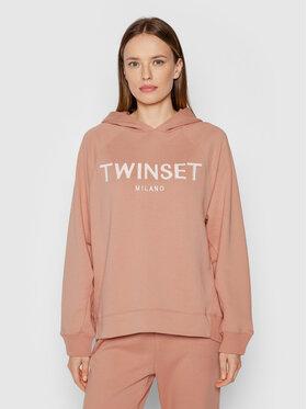 TWINSET TWINSET Mikina 212TP2571 Růžová Regular Fit