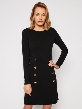 DKNY DKNY Koktejlové šaty DD9J1308 Černá Slim Fit