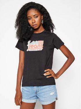 Lee Lee T-Shirt Crew Neck L41LYG01 Schwarz Regular Fit
