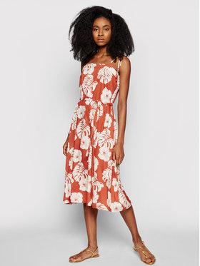 Roxy Roxy Letní šaty Strappy ERJWD03540 Oranžová Regular Fit