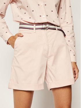 TOMMY HILFIGER TOMMY HILFIGER Bavlnené šortky Dobby WW0WW27569 Ružová Regular Fit