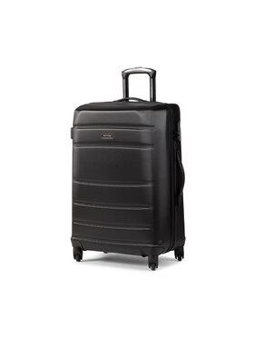 Wittchen Wittchen Közepes keményfedelű bőrönd 56-3A-652-10 Fekete