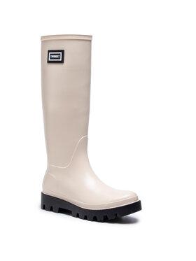 TwinSet TwinSet Guminiai batai Rain Boot 202TCP210 Smėlio