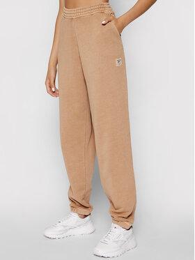 Reebok Reebok Spodnie dresowe Classics Natural Dye H09016 Brązowy Oversize