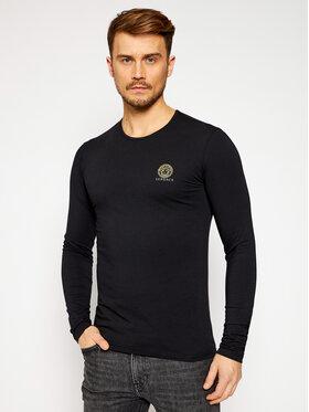 Versace Versace Marškinėliai ilgomis rankovėmis Girocollo AUU01007 Juoda Regular Fit