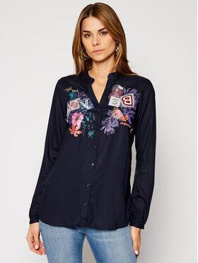 Desigual Desigual Marškiniai Davinia 20WWCW79 Tamsiai mėlyna Relaxed Fit