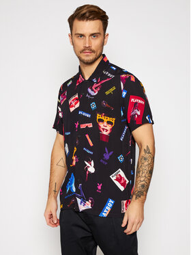 HUF HUF Koszula PLAYBOY Collage BU00112 Czarny Regular Fit