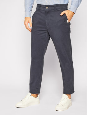 Tommy Jeans Tommy Jeans Pantaloni di tessuto Tjm Branded Turn Up DM0DM07819 Blu scuro Straight Fit