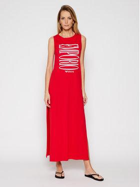 Emporio Armani Emporio Armani Плажна рокля EMPORIO ARMANI 262635 1P340 33974 Червен Regular Fit