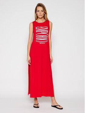 Emporio Armani Emporio Armani Sukienka plażowa 262635 1P340 33974 Czerwony Regular Fit