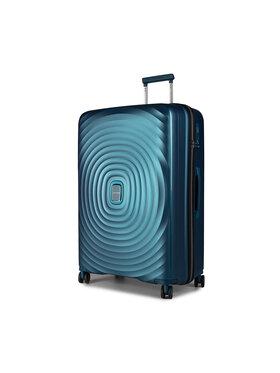 Puccini Puccini Nagy kemény borítású bőrönd Buenos Aires PP017A 7 Kék