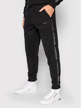 Calvin Klein Calvin Klein Teplákové kalhoty Silver Logo K10K106736 Černá Regular Fit
