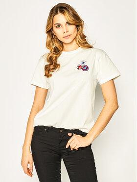 Converse Converse T-shirt Logo Distort Tee 10019115-A01 Blanc Regular Fit