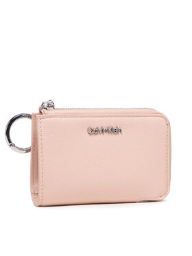 Calvin Klein Calvin Klein Malá dámska peňaženka Ck Must Z/A Wallet Sm W/Dogclip K60K608608 Ružová