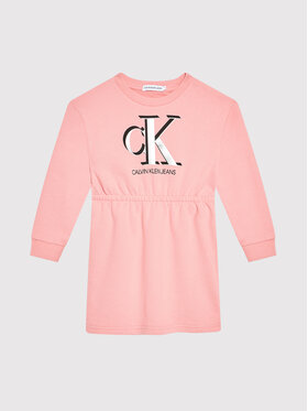 Calvin Klein Jeans Calvin Klein Jeans Ежедневна рокля Monogram IG0IG01028 Розов Regular Fit