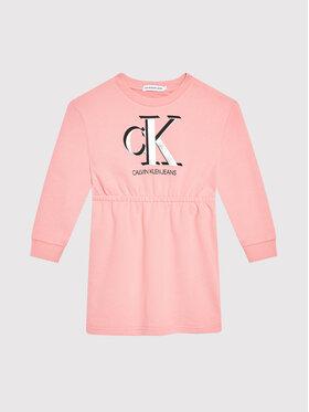 Calvin Klein Jeans Calvin Klein Jeans Každodenní šaty Monogram IG0IG01028 Růžová Regular Fit