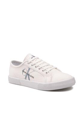 Calvin Klein Jeans Calvin Klein Jeans Sneakers aus Stoff Vulcanized Sneaker Laceup Cp Weiß