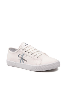 Calvin Klein Jeans Calvin Klein Jeans Teniși Vulcanized Sneaker Laceup Cp Alb