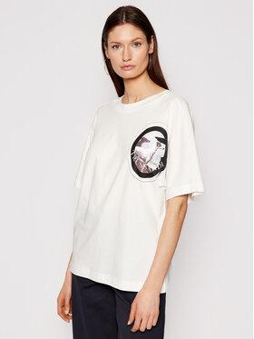 Trussardi Trussardi T-Shirt 56T00343 Biały Boy Fit